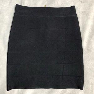 NWT BEBE Bandage Solid Black Mini Skirt Size M